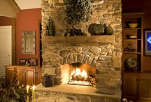 Stone Fireplace Ideas / There is nothing cozier than sitting next to a stone fireplace on a chilly day. Here are our favorite stone fireplace ideas for inside and outside your home.