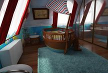 Pirate bedroom for boys, Kalózos gyerekszoba