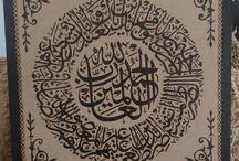 Calligraphy çalışmalarım