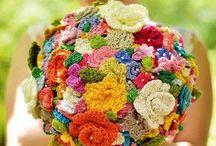 かぎ針編みの花