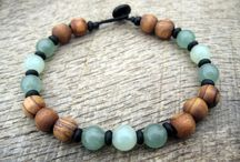 Jewelry from wood beads