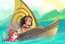 Moana and Ariel Ship