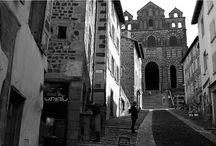 Chemins de Compostelle en noir et blanc / Photos des chemins de Saint Jacques de Compostelle en noir et blanc.