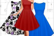 Выкройка на платье из 50-х