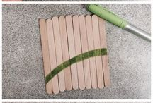 bricolages bâtons pop