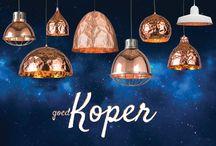 Kostbaar koper / Stoer, stijlvol en fris koper, geschikt voor elk interieur! Bekijk ons assortiment voor de koperen lamp die bij u past.