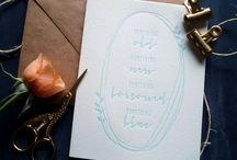 Letterpress Wedding Cards | Sunlit Letterpress / New letterpress wedding cards and greetings from Sunlit Letterpress.