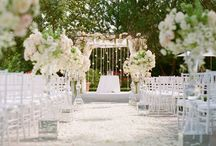white weddings / weddings with white color scheme