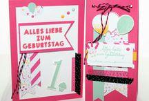 Geburtstag Geschenke aus Papier StampinUP basteln - Birthday Present package / Geburtstagskarten und Geschenke aus Papier gestempelt selbst gemacht, Basteln, Stempeln und Stanzen mit Stampinup