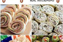 Roll up finger food