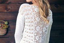 sweterki na szydełku lekkie