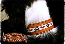 Custom Dog Gear & Collars by Sleepy Holow www.sleepyholow.ca / Custom made Dog Collars and leashes for your special buddy! I only use quality components, leather, beads, hardware. Made to order and unique! Hand carve, hand beaded. See more at www.sleepyholow.ca