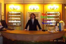 Portiere notturno, night porter, night manager. / At the Grand Hotel, Cervia, Italy.