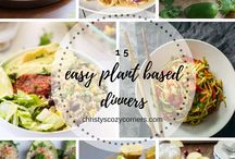 Plant Based Recipes and Meals