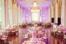 Wedding Decor / Reception and Ceremony decorations, setups, lighting, and seating.