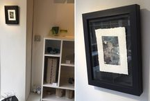 my work #Print showing at the Metagallery #penzance alongside the #ceramics of Remon Jephcott. lovely.
