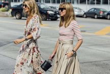 Floral dressies and skirts