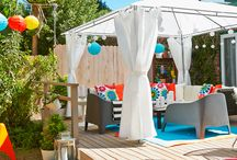 Summer patio design