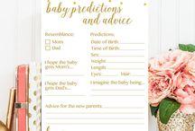 Baby Shower Games/ Activities