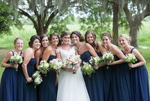 Weddings - bridesmaid in blue / Wedding Photography with bridesmaids in various shades of blue. Style and design in Southern Charleston SC by MCG Photography.