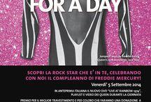 Freddie For A Day 2014 - Killer Queen / Venerdi' 5 Settembre, nel giorno di nascita di Freddie Mercury, ritorna all'Hard Rock Cafe Firenze, il FREDDIE FOR A DAY, una giornata mondiale ideata per commemorare il leader dei Queen e raccogliere fondi a favore della MERCURY PHOENIX TRUST, un'organizzazione di volontariato attiva in tutto il mondo, fondata immediatamente dopo la morte di Freddie Mercury ed impegnata nella ricerca e nella lotta contro l'AIDS. http://www.mercuryphoenixtrust.com/