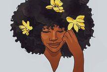 Arte com cabelo natural