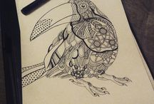 My Graphics / my pencil and liner graphic drawings