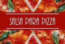 Salsas para pizza
