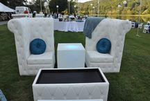 White Lounge Furniture / Fantastic New Inventory at Revelation Productions! Email us at -info@revprod.com for Details!!