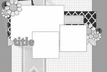 Scrapbook Layout Sketch - 3 photos