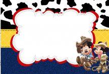 Festa Mickey e Minnie / Artes para festas e eventos no tema Mickey e Minnie Artes grátis para uso pessoal / by Tonbo Nuske