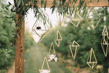 Geometric wedding style
