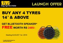 Buy Tyres India / Buy tyres online in India by making selection of car model or through tyre size or brand. Consumers can buy tyres for car, tyres for motorcycle and tyres for bikes online in India at best and cheap rates