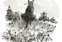 Joel Stewart Black & White Illustrations