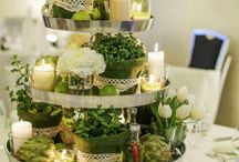 Round table centre pieces