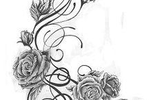 Tetování - růže 2