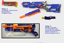 Nerf / I have way too many NERF blasters and need to get rid of some. I'd like some themed ones but don't have skill or time to do it myself. I'll just dream about them here.  Oh, and sure as hell it'll start to contain other styles than NERF.
