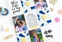 Laurel Lane Designs DT / Scrapbook layouts, Project Life spreads