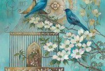 Птички для декупажа