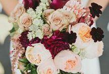 Peach and Cranberry Wedding ❤