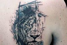 lion tattoo sleeve