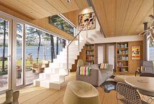 Interiores de casas ecológicas