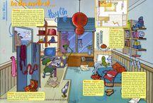 cartoon rooms