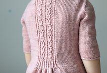 jakker og gensere til barn / Kids handknit clothing