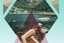 Collage kunstwerk