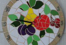 relogio de mosaico
