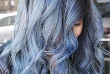 Denim blu hair / ideas for new hair style denim grey blue pastel