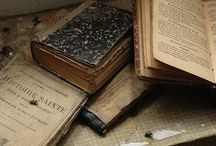 books: old & well-worn / old books, old friends, to see them is to remember better hours spent in thrall to worlds we visited, to characters....