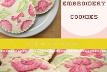 brushed embroidery cookies