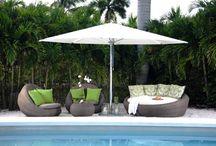 Umbrellas / Outdoor umbrellas are a great way to create shade in your backyard!